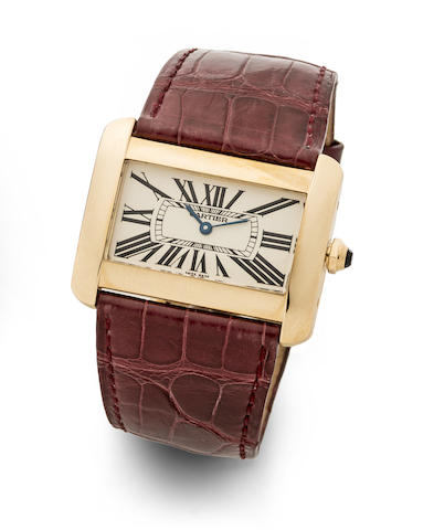 Cartier. An 18K Gold Quartz Wristwatch