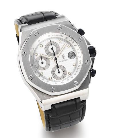 Audemars Piguet. A stainless steel automatic calendar chronograph wristwatch