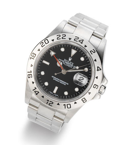 Rolex. A stainless steel Automatic Calendar Bracelet Watch with dual time zone