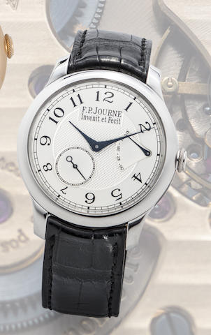 F.P. Journe. A fine and rare platinum manual wind wristwatch with power reserve indication
