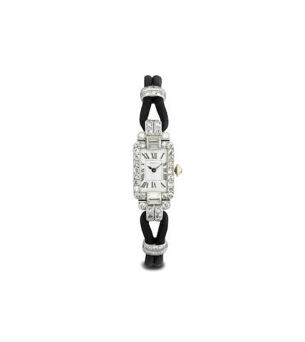 An Art Deco diamond wristwatch