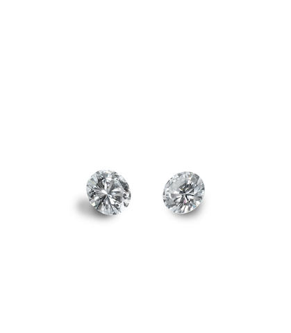 A pair of diamond single-stone earstuds