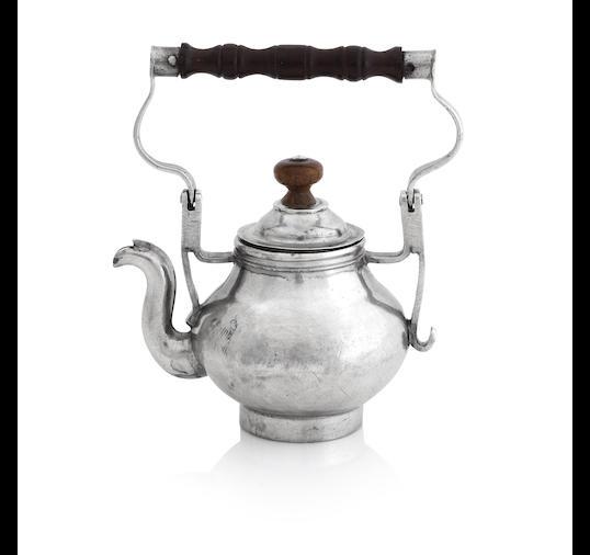 A George I/George II miniature silver tea kettle