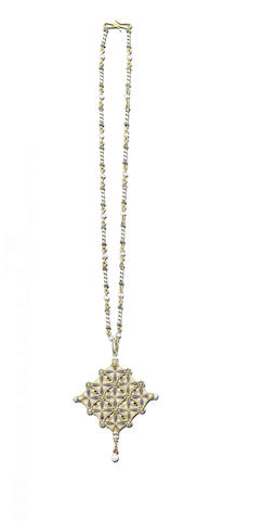 A gold, enamel and gem-set necklace, by Carlo Giuliano