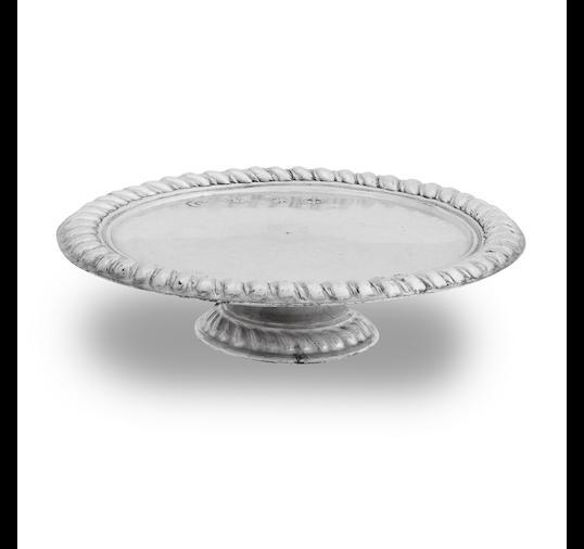 A Queen Anne miniature silver footed salver