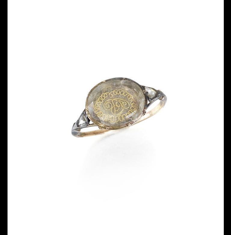 A Stuart crystal ring