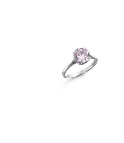 A fancy-coloured diamond single-stone ring