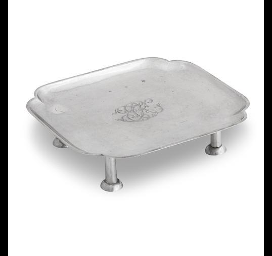 A George I miniature silver tea table
