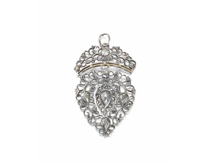 An 18th/19th century Vlaams Hart or Coeur Flamand pendant