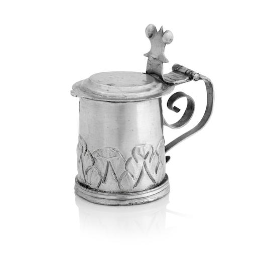 A James II miniature silver tankard