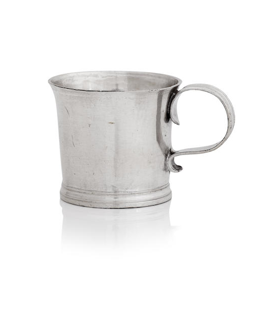 A Queen Anne/George I miniature silver mug