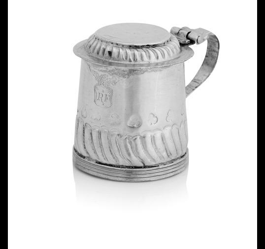A Queen Anne miniature silver tankard