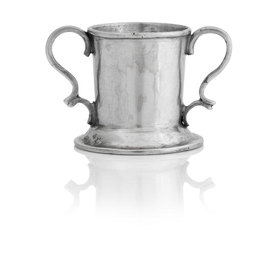 A William IV miniature silver twin handled cup