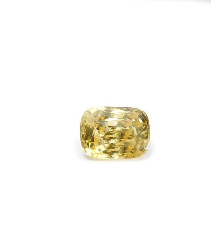 A yellow sapphire pendant