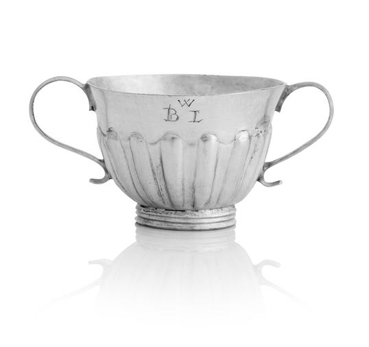 A Scottish silver tot cup