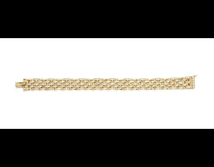 A diamond track-link bracelet