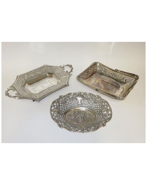 A late 19th century twin handled dish