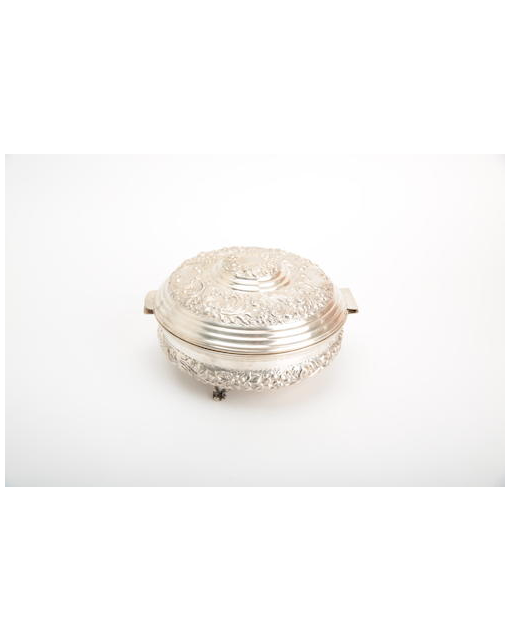 An Egyptian silver lidded bowl