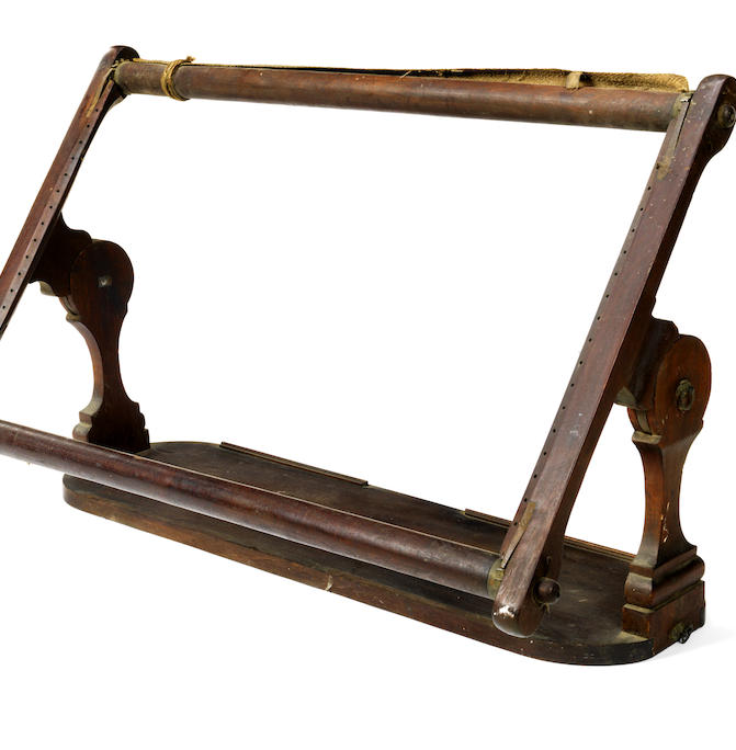 A Victorian mahogany work frame