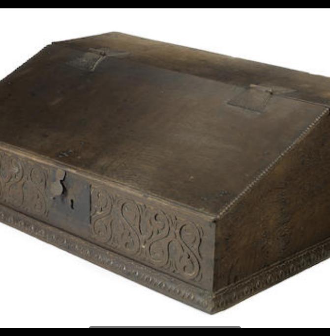 An 18th century oak table top bureau