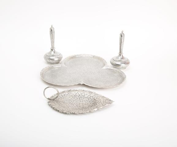 An Indian trefoil tray