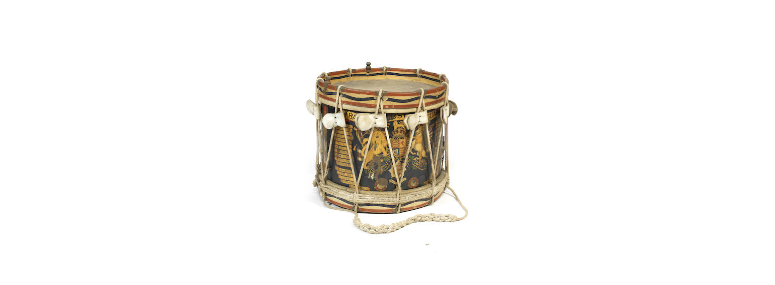 A 3rd Battalion Coldstream Guards side drum