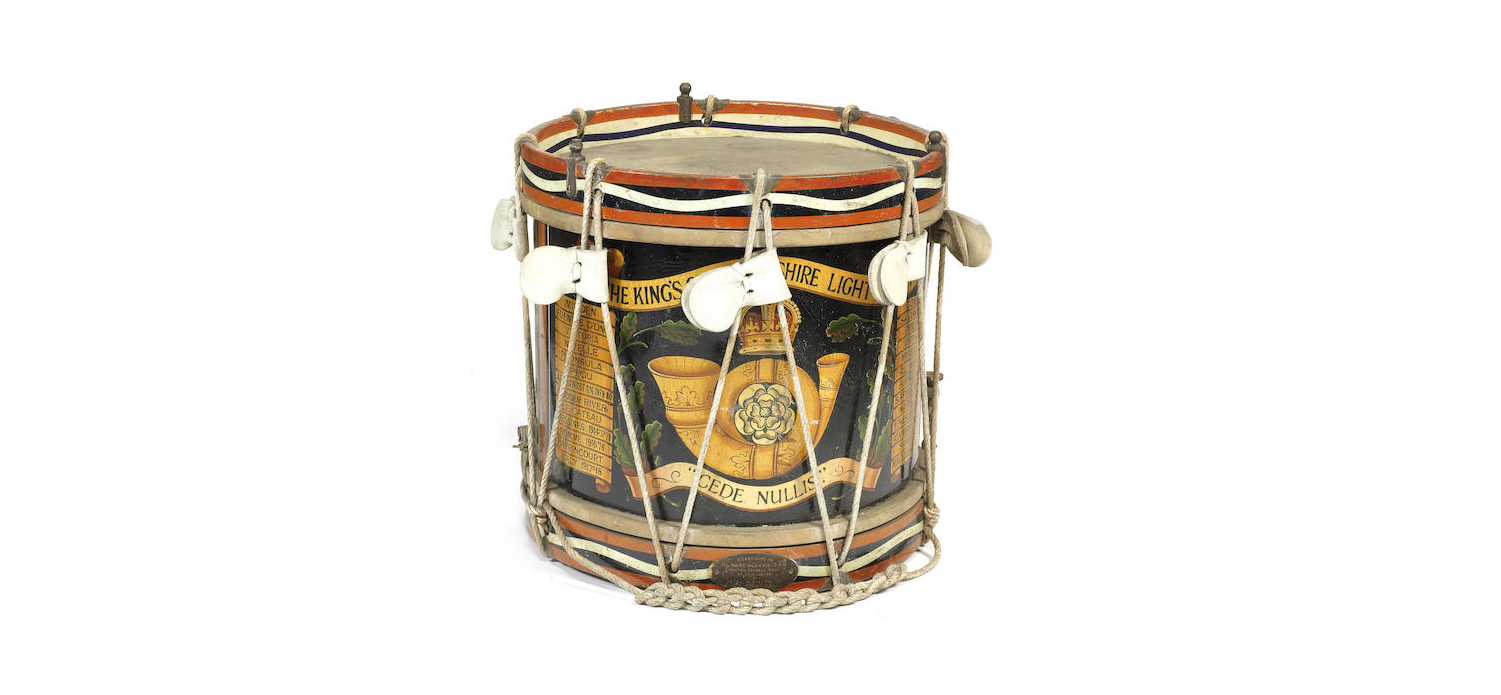 A 5th battalion The King's Own Yorkshire Light Infantry side drum