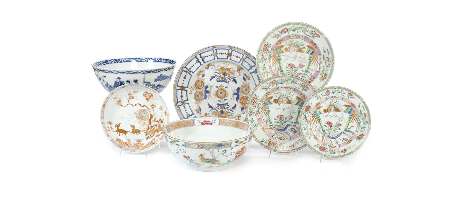 A selection of Chinese export dishes