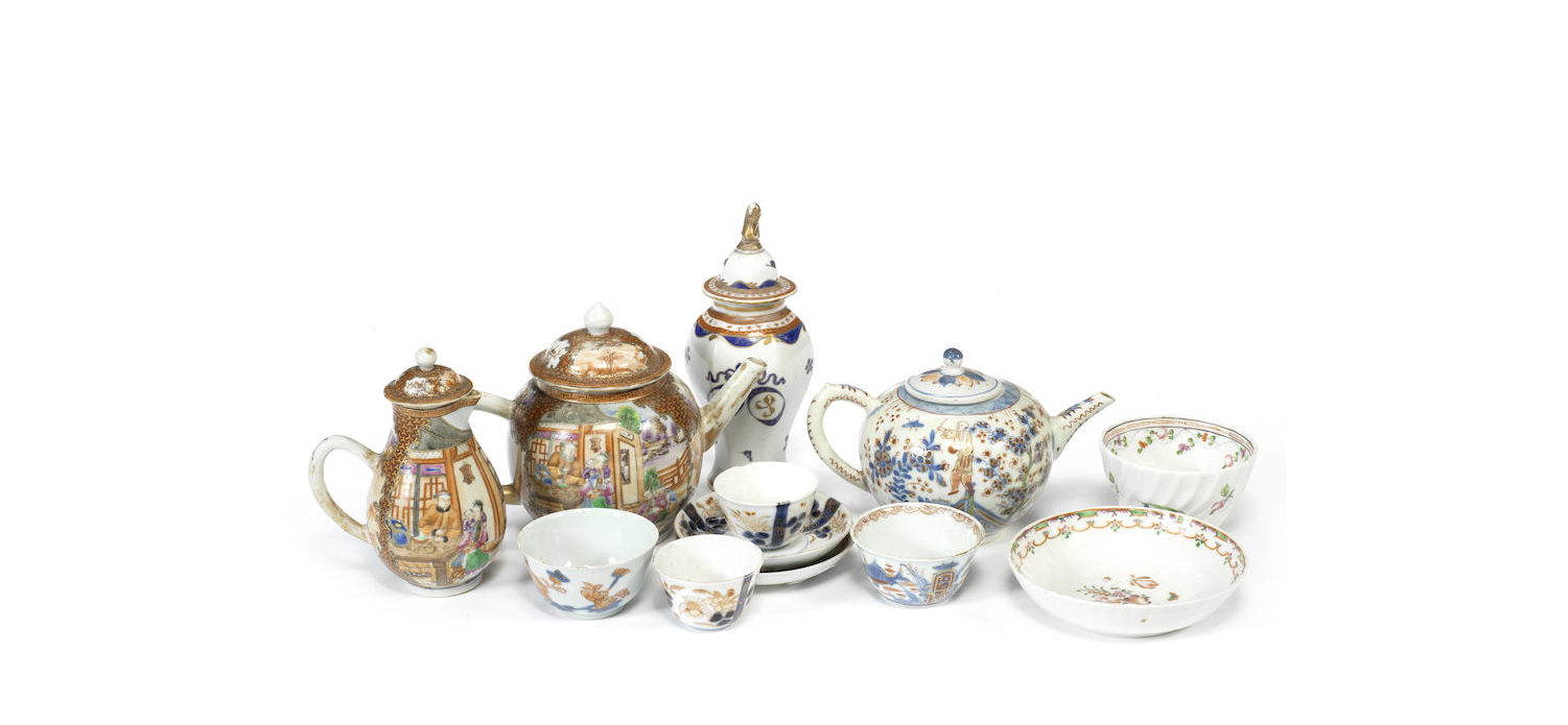 A large group of Chinese export tea ware