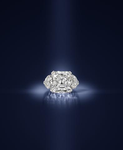 An impressive diamond single-stone ring