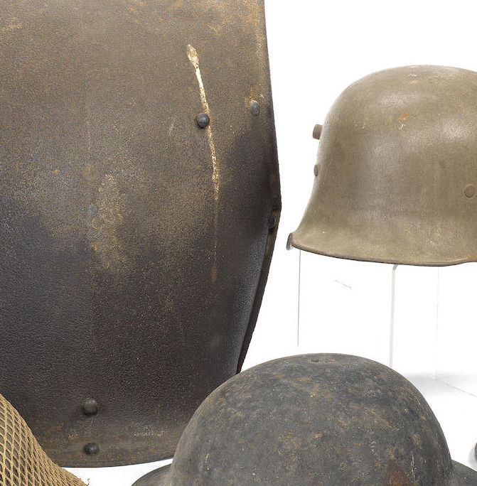 Five Various Military Helmets
