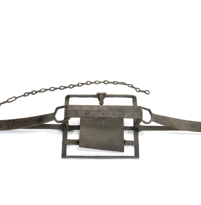 A 19th century iron mantrap