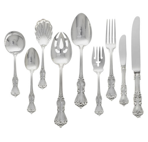An American sterling silver flatware service for sixteen