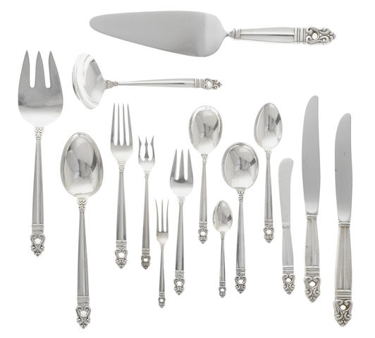 An American sterling silver flatware service