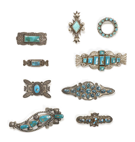 A collection of Navajo pins