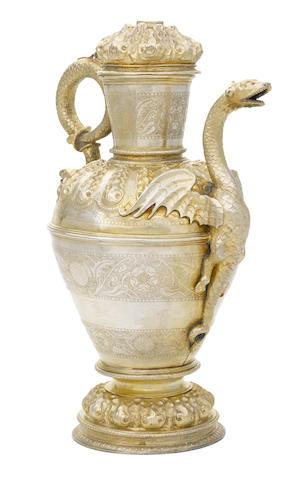 A monumental Victorian gilt-electrotype Kremlin jug