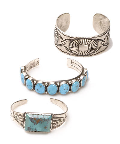 Three Navajo bracelets