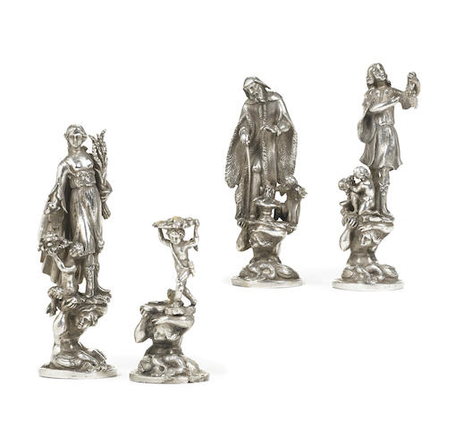 A set of Continental silver figures of the Four Seasons