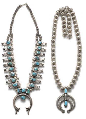 Two Navajo necklaces