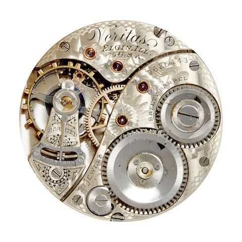 Elgin. A fine 18K gold hunter cased watch