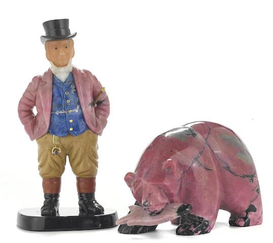 An Idar-Oberstein mixed hardstone figure of John Bull
