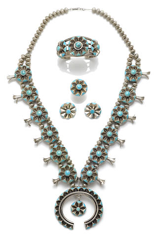 A suite of Navajo jewelry