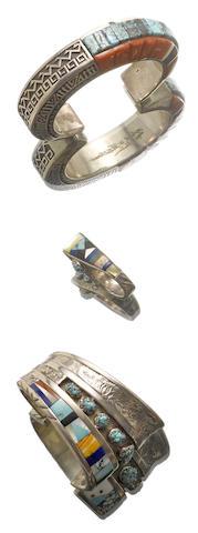 Three Southwest jewelry items