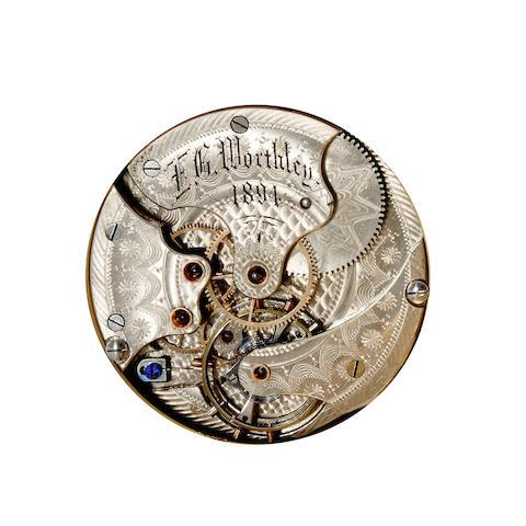 E. G. Worthley. A unique 14K gold hunter cased spring detent chronometer