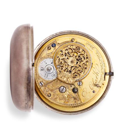 A rare silver pair case verge watch