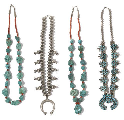 Four Southwest necklaces