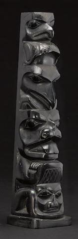 A Haida argillite totem pole