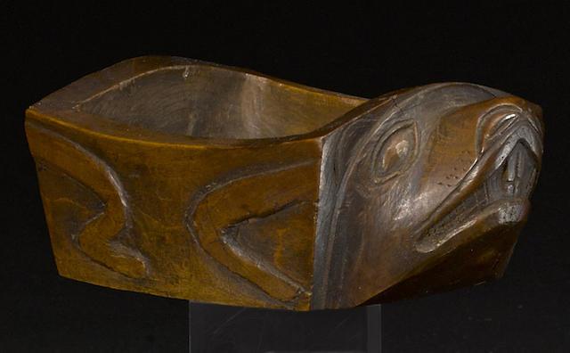 A Haida beaver effigy bowl