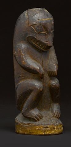 A Northwest Coast figure of a bear