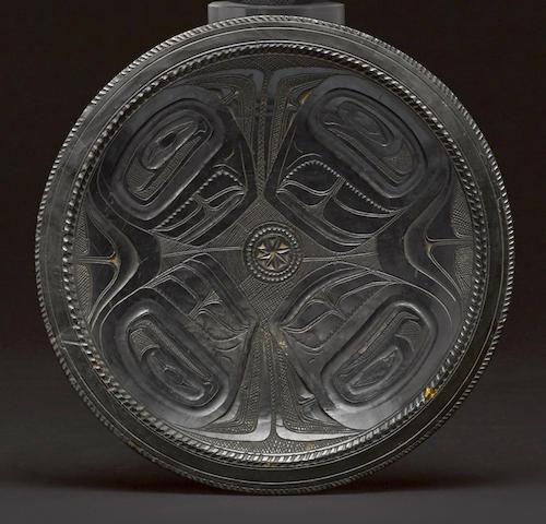 A Haida argillite plate